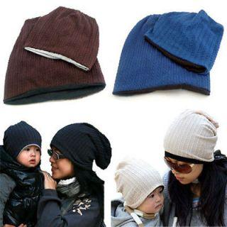 Korean Style Cute Boy Girl Baby Toddler Child Parent Hat Knit Beanie