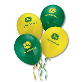 John Deere Green and Yellow Balloons JD04806 10 Pack