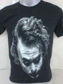 Heath Ledger T Shirt S M L XL Batman The Joker The Dark Knight Rises