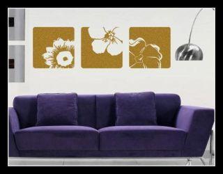 Canvas Effect Flower Vinyl Wall Art Sticker Decals Fashionable