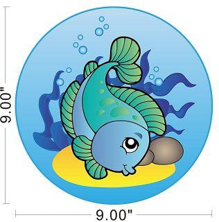 Carp Cute Fishing Ocean Sea Fish Kids Children Wall Decal Removable