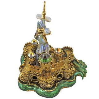 NEW KIRKS FOLLY DRAGON KEEPER WIZARD TREASURE BOX ANTINQUE GOLDTONE