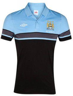 Polo Shirt Jersey Umbro Manchester City tg Short Sleeves Man cotton