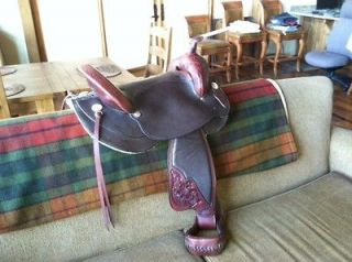 New! $1,850 Tex Tan Flex Trail Saddle 17   Brown/ Sunset  Flair