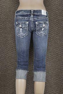 Capris LA Idol Jeans Sz 0 15 Classic Ripped White Stitching