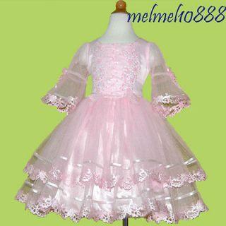 WM38 BridesMaid/Baby Party Flower Girls PINK dress 1 2YRS