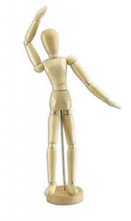 Wooden Human Mannequin (Unisex) 8 Inches Tall, 12 Female/Male Manikin