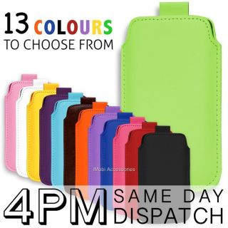PREMIUM LEATHER PULL TAB SKIN CASE COVER POUCH FOR SAMSUNG CHAT 222