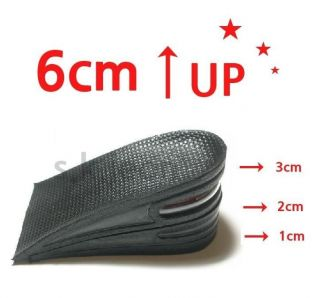 Height Increase shoe Inserts Insoles Heel Lifts Pads 6cm 3 Layers Air