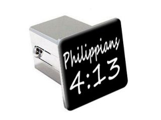 13   Christian Bible Verse   2 Chrome Tow Hitch Cover Plug Insert