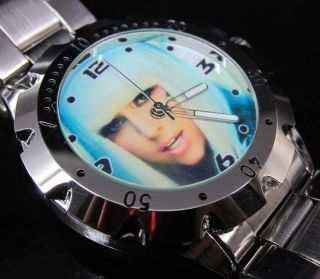 NEW Rotating Bezel Watch / Lady Gaga   Poker Face #2