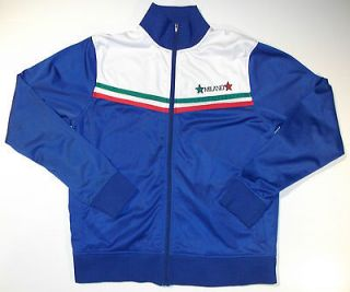 COOL ITALIA ITALY NATIONAL FOOTBALL SOCCER TEAM BLUE JACKET MENS L