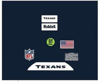 houston texans helmet decals in Sports Mem, Cards & Fan Shop