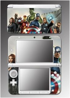Captain America Shield Thor Video Game Skin Cover 7 Nintendo 3DS XL