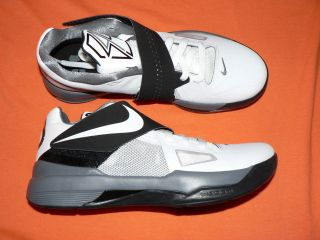 Mens Nike Zoom KD IV shoes new 473679 101 Durant white black