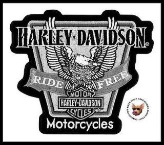 HARLEY DAVIDSON LARGE UPWING EAGLE RIDE FREE VEST JACKET PATCH
