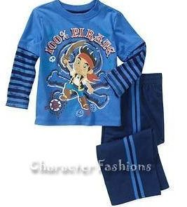 JAKE AND THE NEVERLAND PIRATES Boys 12 18 24 M 3T 4T Shirt Pants