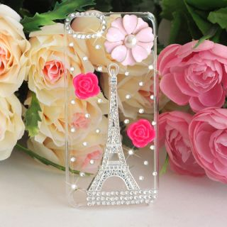 Eiffel Tower Bling Diamond Hard Back Case For Apple iPod touch 5th Gen