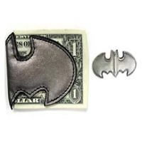 NEW* DC COMICS BATMAN SYMBOL LOGO GREY MAGNETIC MONEY CLIP