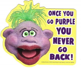 Jeff Dunham Peanut   Once You Go Purple Car Locker Frig Magnet HT