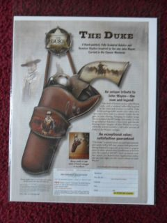 Ad The Bradford Exchange ~ John Wayne THE DUKE Holster & Gun Sculpt