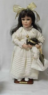 JENNIFER ~ SEYMOUR MANN COLLECTION ~ PORCELAIN DOLL WITH STAND
