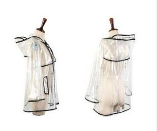 PVC clear 2012 women Mens Girls Boys Rain Coat Runway Style