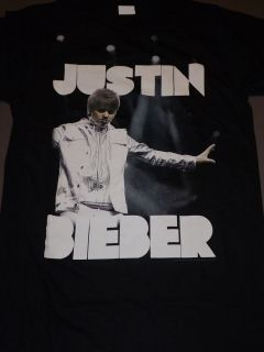 JUSTIN BIEBER Never Say T Shirt **NEW band music concert tour Slim Fit