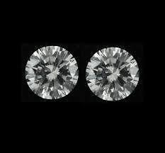 PAIR OF 2 LOOSE ROUND CUT NATURAL WHITE DIAMONDS J I3 3.20 mm (0.06ct