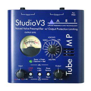 MP Studio V3 Single Channel Tube Microphone / Instrument Preamplifier