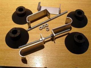 Boot luggage rack fitting kit, 2 x mounting brackets & 4 x feet, Mazda