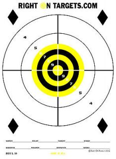 75 LARGE BLACK AND YELLOW RINGS Paper Shooting Targets 3 (11X15) pads