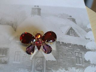Joan Rivers Rhinestone Crystal Butterfly New Multi colour