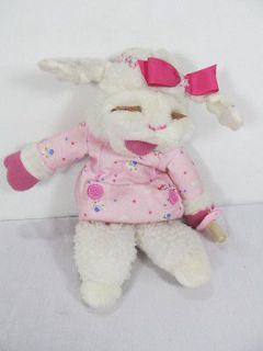 1990 Shari Lewis Baby Lamb Chop Hand Puppet Stuffed Plush Pacifier Toy