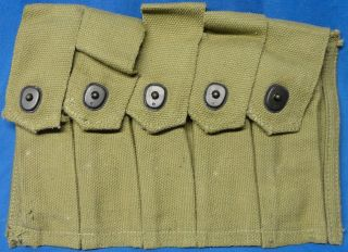 WW2 U.S.Army Issue Thompson SMG 5 Cell 20 Round Magazine Pouch Un