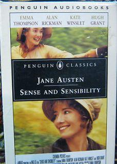 JANE AUSTEN SENSE AND SENSIBILITY,4 CASSETTES READ BY JULIE CHRISTIE
