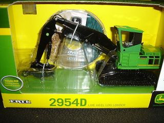 JOHN DEERE 1/50TH SCALE 2954D LIVE HEEL LOG LOADER INCLUDES DVD NEW IN