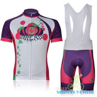 Bike Cycling Bicycle Comfortable Jersey+Padded Bib Shorts Pants S XL