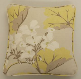 Laura Ashley Millwood Duck Egg Floral & Leaf Piped Cushion Cover FREE