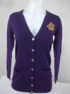 Ralph Lauren Sport Cardigan 100% Merino Wool Button Front V neck