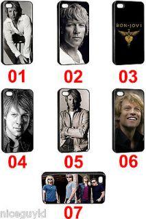 Jon Bon Jovi Rock Band Seamless Iphone 4 & 4S Plastic Hard Case Cover