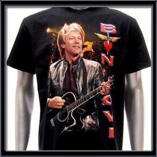 Sz L BON JOVI T shirt Vtg Retro Hard Rock Band Tour Men