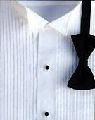 New WHITE Wing Collar Tuxedo Shirt Large 16 16.5 X 34/35