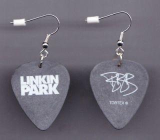 Linkin Park Brad Signature Guitar Pick Earrings 2007