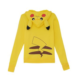 JP Anime Pikachu Hoodie Pokemon Zips Long Sleeve Hoodies Jacket Top