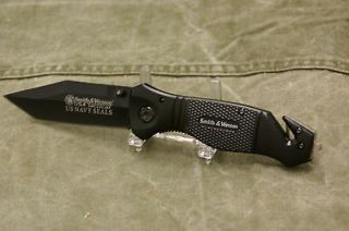 WESSON POLICE TACTICAL US NAVY SEALS LOCK BLADE KNIFE SURVIVAL # 024