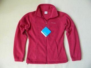 NEW Columbia Womens Zipper June Lake Fleece Pink Jacket Large