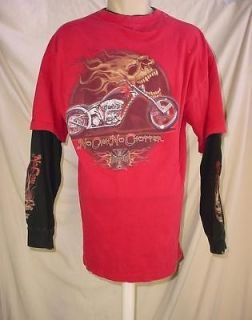 Coast Choppers Jesse James Motorcycles Bike Shop Long Sleeve T Shirt