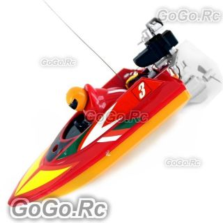 Red Radio Remote Control RC Mini Racing Speed Boat (HQ953 RD )