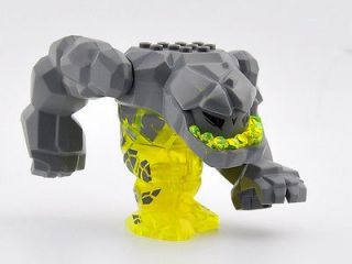 LARGE Lego Power Miners Trans Yellow Tremorox Rock Monster Crystals